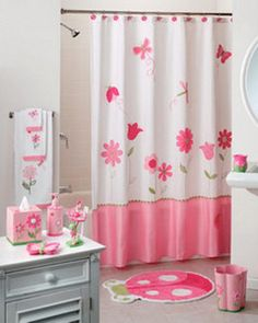 Loe The Pink Ruffled Shower Curtain. | Dream Home | Pinterest | Kids S,  Tubs And Girl Bathrooms