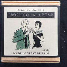 Prosecco Bath Bomb in a Box - Magnificently Different