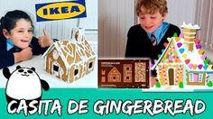 CASITA DE GALLETAS de JENGIBRE * Montamos la Gingerbread house de IKEA  ** The Crazy Haacks - YouTube