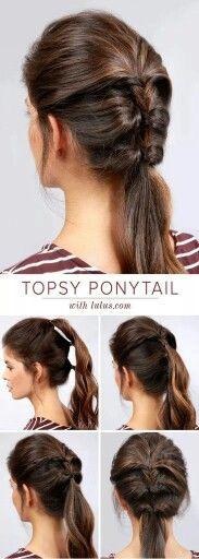 New hair tutorial everyday hairstyles 66 ideas Easy Everyday Hairstyles, Trendy Hairstyles, Braided Hairstyles, Weekend Hairstyles, Office Hairstyles, Beautiful Hairstyles, 5 Minute Hairstyles, Creative Hairstyles, Party Hairstyles