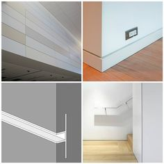 drywall and a reglet trim piece that creates the reveal - Google Search