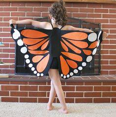 DIY Halloween : DIY Felt Monarch Butterfly Wings DIY Halloween Decor
