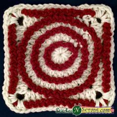 Merry Go Round Blanket Square, free crochet pattern by StitchesNScraps