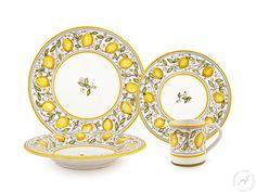 Limoni Dinner Plates, Hand Painted Dinnerware Italy – thatsArte.com