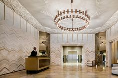 Lobby of Stella Tower - West 50th Street NYC