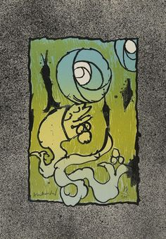 """""""Lithosphere"""", 1970, Pierre Alechinsky, Belgian (b. 1927), lithograph on paper, 17 1/2 x 12 1/8 in. Gift of Michael Bloom, 1978. 1978.2553. Alweer een geniale Belg!"""