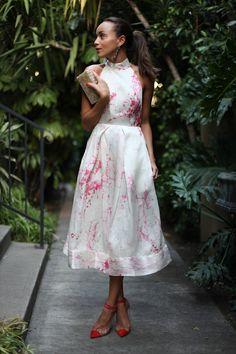 Ashley Madekwe. Such a pretty dress, nice shoes too.