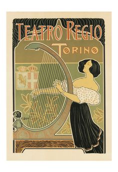 ART NOUVEAU Print Italian Travel Poster ITALY by NouveauGallery