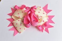 Ballet Slippers Hair Bow and Clippie Ribbon Sculpture Set. $16.00, via Etsy.