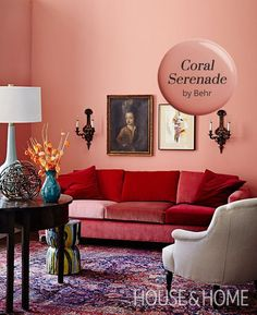 Charming Coral Serenade By Behr Is Our Paint Color Pick!