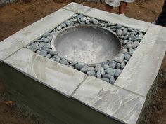 fire pits, idea, cozy homes, diy fire, firepit, garden, concrete planters, backyard fire pit diy, concret fire