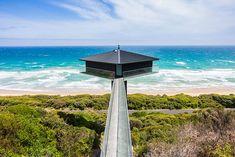 Unieke architectuur laat huis zweven boven Australische zee