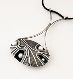 Pendant |  John Pagacz.  Sterling silver and pearls.  Mid century