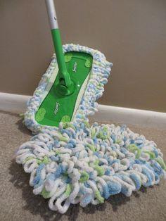 PATTERN-Washable Mop Head - for Swiffer mop Washable Swiffer mop head! Bernat Baby Blanket, Blanket Yarn, Crochet Gifts, Free Crochet, Crochet Top, Swiffer Pads, Crochet Scrubbies, Mop Heads, Crochet Home Decor