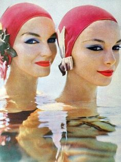 Ciao Bellissima - Vintage Glam; Models Joanna and Gretchen in the Virgin Islands; Photo by Richard Rutledge, Vogue January 1957