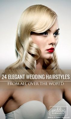 24 Elegant Wedding Hairstyles From All Over The World ❤ Elegant wedding hairstyles are always in trend. You can do them from any hair length and color. We gathered the best ideas from all over the world! See more: http://www.weddingforward.com/elegant-wedding-hairstyles/ #weddings #hairstyle