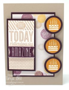 Stampin' Up! Stamping T! - Amazing Birthday card