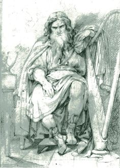 Bragi- the skald or bard of the Aesir. He is married to the maiden Idhunn who was so enamoured with the mortal musician that she raised him to divinity and made him her husband