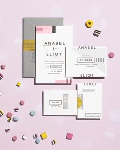 5 Wedding Stationery Suites Inspired By Sweets - Graphic Display