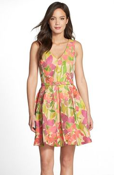 Trina Turk 'Martha' Floral Print Fit & Flare Dress available at #Nordstrom