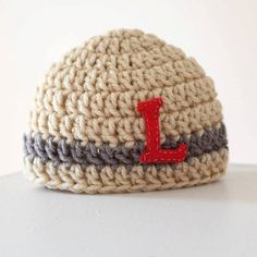 Personalized Crochet hat for infant by LittleStitchyMonster