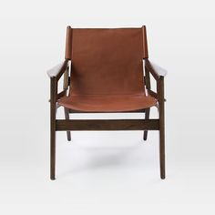Felipe Leather Sling Chair #westelm
