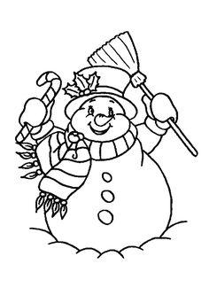 un bonhomme de neige colorier avec de belles teintes pour nol
