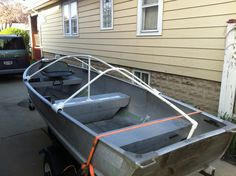 How To Make a boat Cover Make A Boat, Build Your Own Boat, Diy Boat, Aluminum Fishing Boats, Aluminum Boat, Boat Cover Support, John Boats, Boat Storage, Storage Ideas