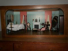 FRANKLIN MINT MINIATURE DOLLHOUSE SCARLETT O'HARA'S BEDROOM way over priced at $175.00 but worth looking at