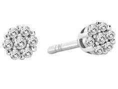 Kolczyki z białego złota z diamentami - wzór 019 / Apart