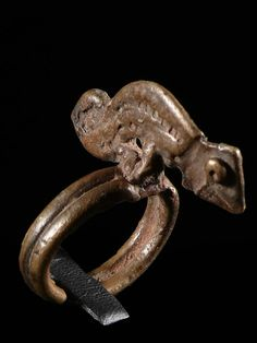 Africa | 'Chameleon' Amulet ring from the Lobi peoples of Burkina Faso | Bronze | ca. 1960s.
