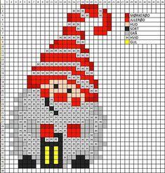 Gnome cross stitch. #hamajul Gnome cross stitch.