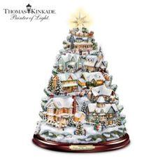Thomas Kinkade Christmas Tabletop Tree: Songs Of The Season