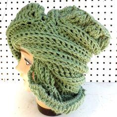 Crochet Hat Womens Hat ROYAL Crochet Beanie Hat Light Sage Green Hat Sage Hat Winter Hat Womens Beanie Hat Women by strawberrycouture by #strawberrycouture on #Etsy