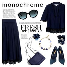 """""""Make It Monochrome"""" by ifchic ❤ liked on Polyvore featuring 10 Crosby Derek Lam, Anja, Dee Keller, Monday Edition, monochrome, contestentry and ifchic"""