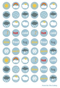 Free Printable Weather Chart for Preschoolers
