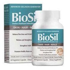Amazon.com: Biosil Hair, Skin, and Nails 60 VegiCaps: Health & Personal Care