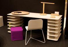 Strates Desk de Mathieu Lehanneur pour la maison d'édition belge Objekten. #Objekten #designandwood.com