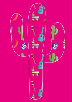 patroon toegepast op een cactus
