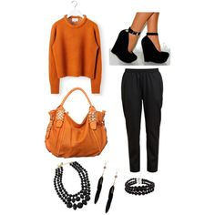 Simply because orange is the new black Orange Is The New Black, Polyvore, Fashion, Moda, Fasion