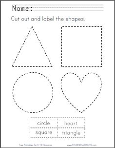 studenthandouts.com 01-Web-Pages 2014-04 cut-out-label-shapes-kindergarten-worksheet.html