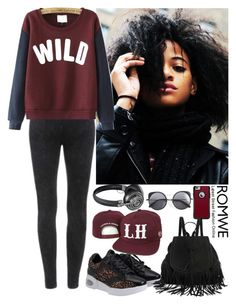 """""""Romwe 3"""" by amra-f ❤ liked on Polyvore featuring OtterBox, Wood Wood, Master & Dynamic, red, wild and 5sos"""