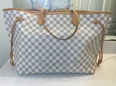 Louis Vuitton Damier Azur Neverfull Gm Tote Shoulder Bag. Get one of the hottest styles of the season! The Louis Vuitton Damier Azur Neverfull Gm Tote Shoulder Bag is a top 10 member favorite on Tradesy. Save on yours before they're sold out!