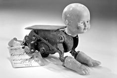 Mechanical crawling baby - patent applied for in 1871.