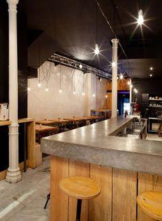 Mama campo restaurante barra de bar bar pinterest for Bar madera sevilla