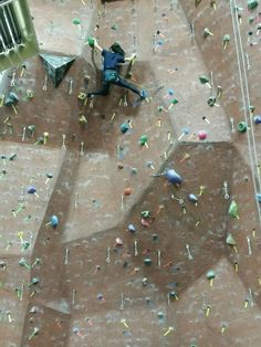Indoor rock climbing offers workout with rush