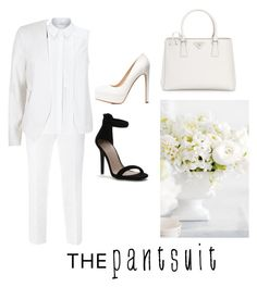 """""""~pantsuit~"""" by jiaparis ❤ liked on Polyvore featuring Dolce&Gabbana, John Lewis, River Island, Prada, Charlotte Russe and thepantsuit"""