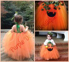 Pumpkin Princess Tutu Dress Halloween by PurpleDaisyBoutique, $48.00