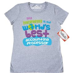 Inktastic My Mommy Is The Worlds Best Accounting Professor Women's T-Shirt Child's Kids Baby Gift Professor's Daughter Childs Like Cute Occupation Apparel Clothing Tees Adult Hws, Size: XL, Grey