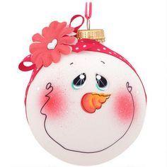 clear ball ornament snowman - Google Search
